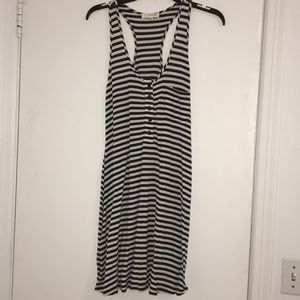 Blue and white striped XS dress